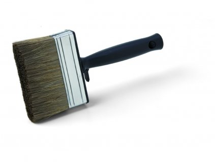 Štetka na ochranné nátery dreva, mix čínska štetina / PES, kovová spojka, plastová rukoväť, veľ. 100 mm