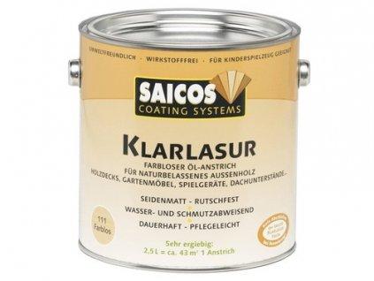 Saicos číra lazúra na drevo odtieň 0111 bezfarebný 2,5 L  + darček podľa vlastného výberu