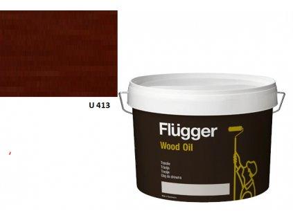 Flügger Wood Oil Aqua (predtým Olej Aqua) 3l odtieň U413 švédska červeň