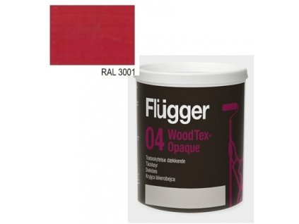 Flügger Wood Tex Aqua 04 Opaque (predtým 98 Aqua) - lazúrovací lak - 0,7l odtieň RAL 3001