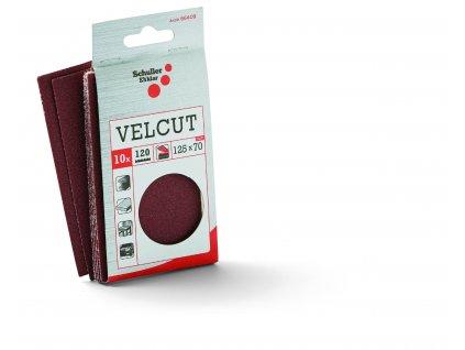 10 ks brúsny papier VELCUT na suchý zips na držiak 40150, 70 x 125 mm, zrnitosť 120