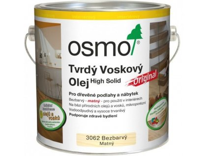 Osmo Tvrdý voskový olej ORIGINAL 0,125L 3062 bezfarebný, mat
