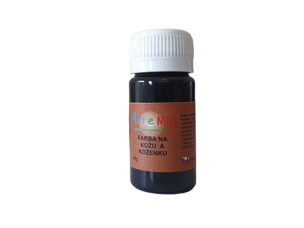 Farba na kožu a koženku 40 g 14 čierna 1