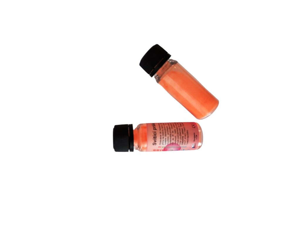 Svietiaci prášok v tme 2v1 PROFI neón oranžová