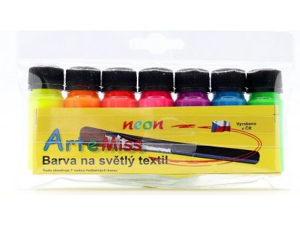 Sada textilných farieb na svetlý textil - neónové odtiene