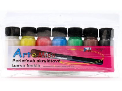 Sada univerzálnych akrylátových perleťových farieb