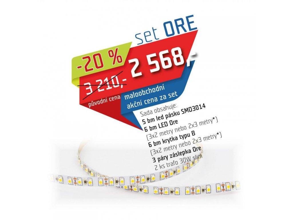 LED set bílá studená + profil ORE