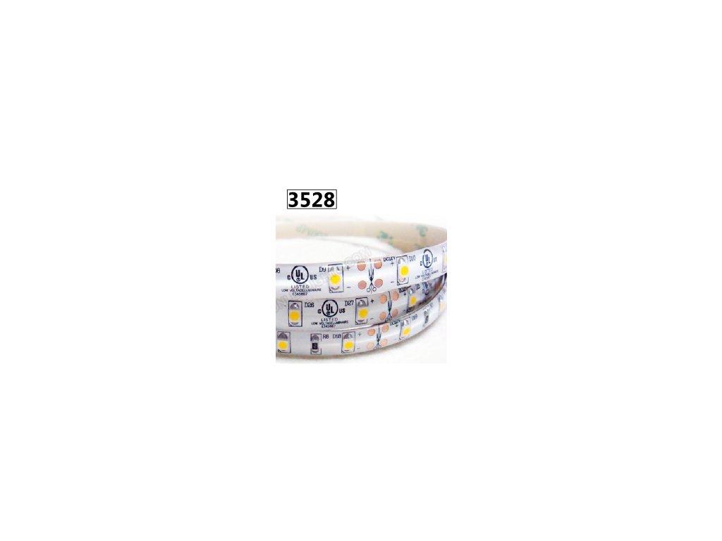 9,6W Led pásek SMD3528, 8mm, 120 čipů/m, studená bílá, návin 5m