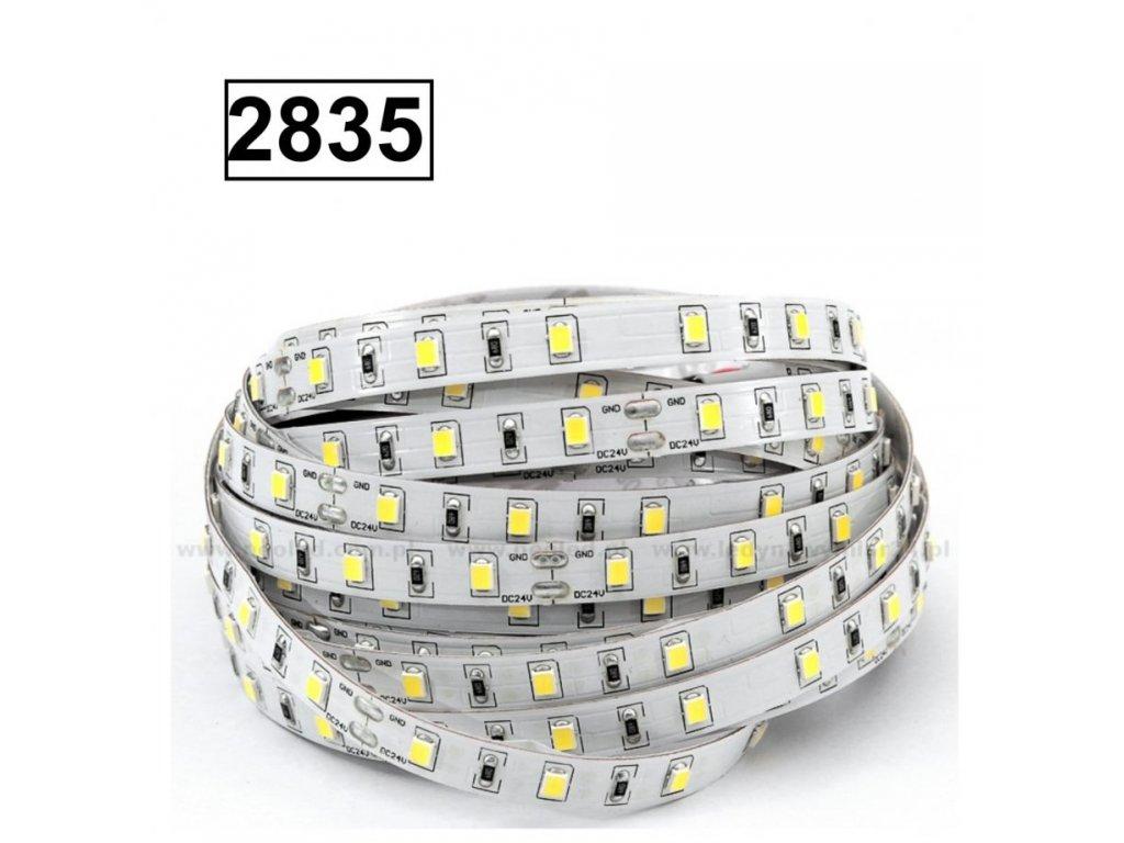 10W Led pásek SMD2835, 8mm, 60 čipů/m, teplá bílá, 5m návin
