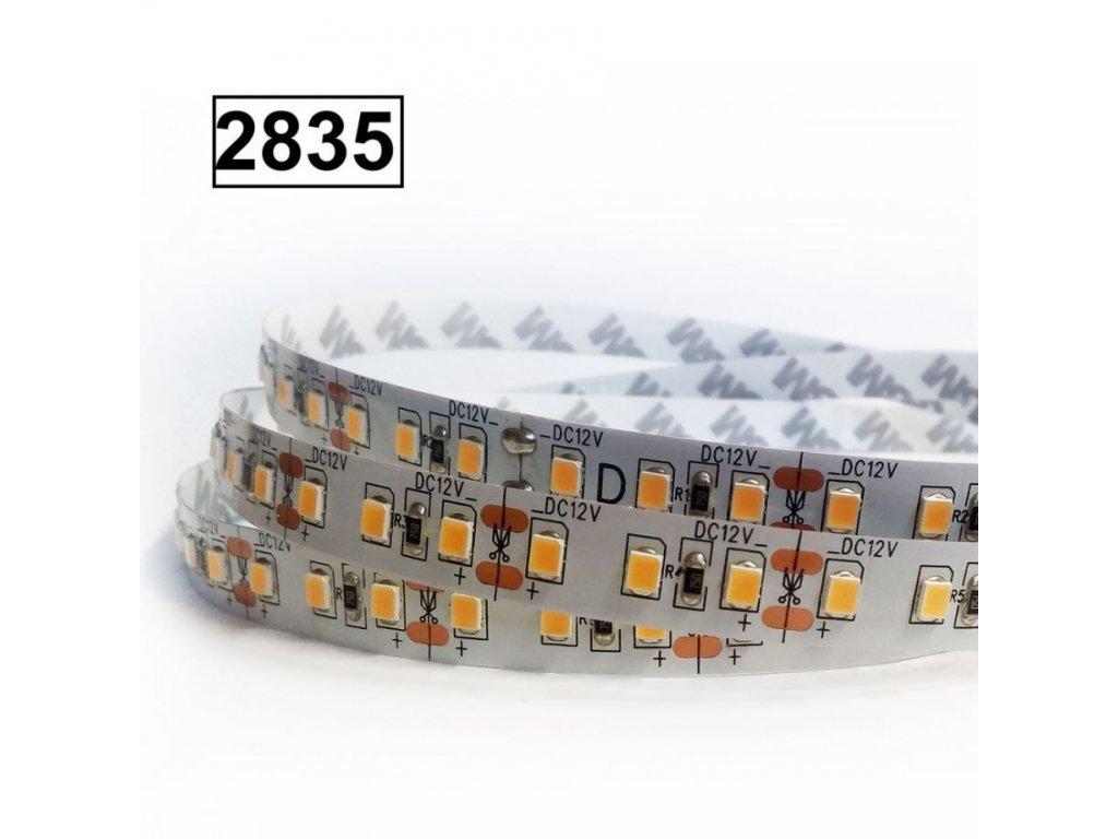 18W Led pásek SMD2835, 10mm, 120 čipů/m, teplá bílá, návin 5m