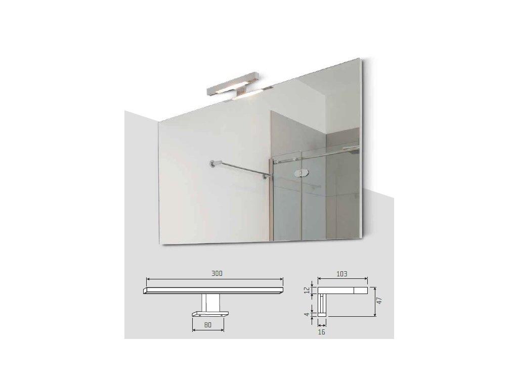 Zrcadlo s předsazeným světlem 600x600