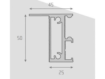 Profil vnitřní pro rozkládací stoly
