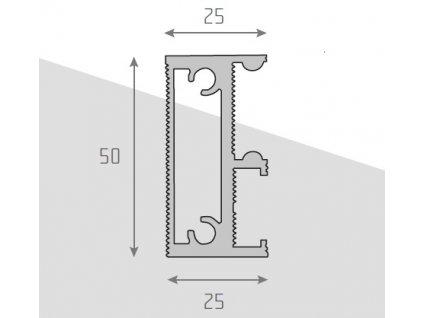 Profil vnější pro rozkládací stoly
