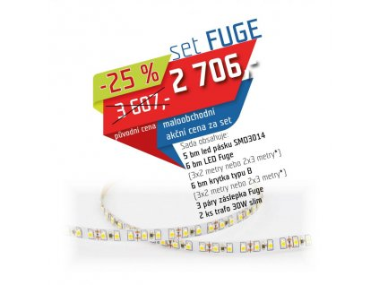 LED set bílá neutrální + profil Fuge