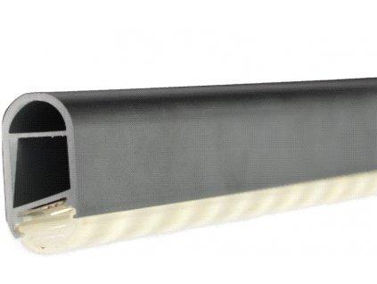 Profil LED osvětlená šatní tyč, včetně krytky