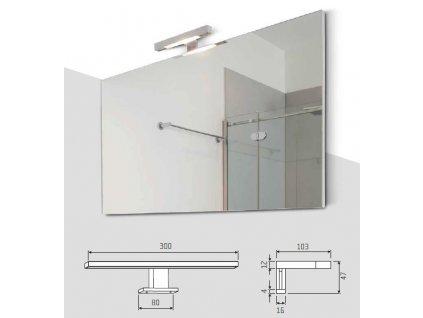 Zrcadlo s předsazeným světlem 900x700