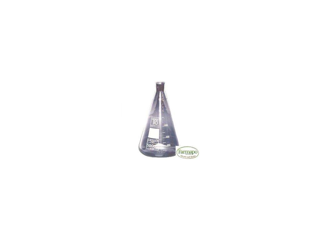 Nádoba Erlenmeyer, skleněná - 5000 ml