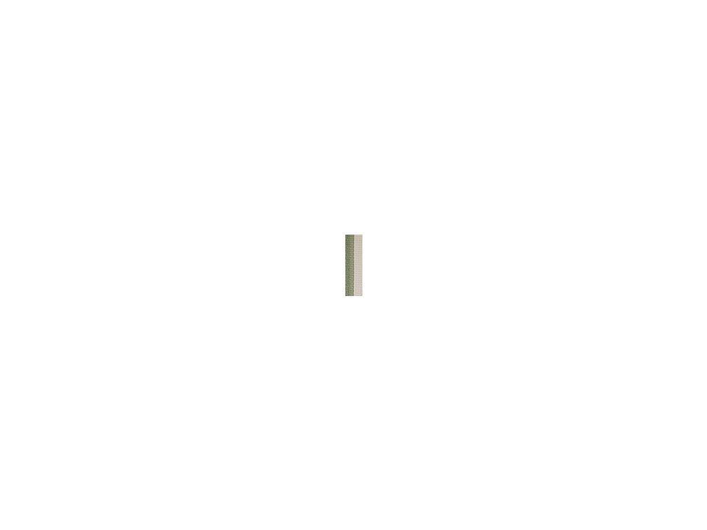 Zeleno-bílá páska 20 mm