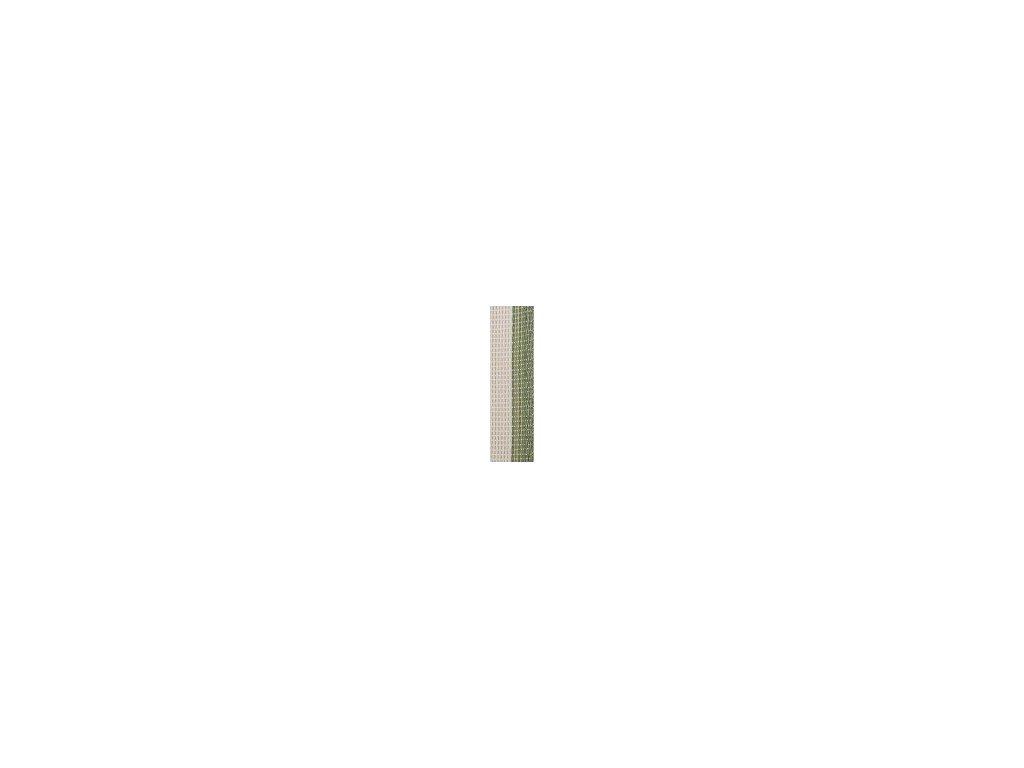 Zeleno-bílá páska 40 mm