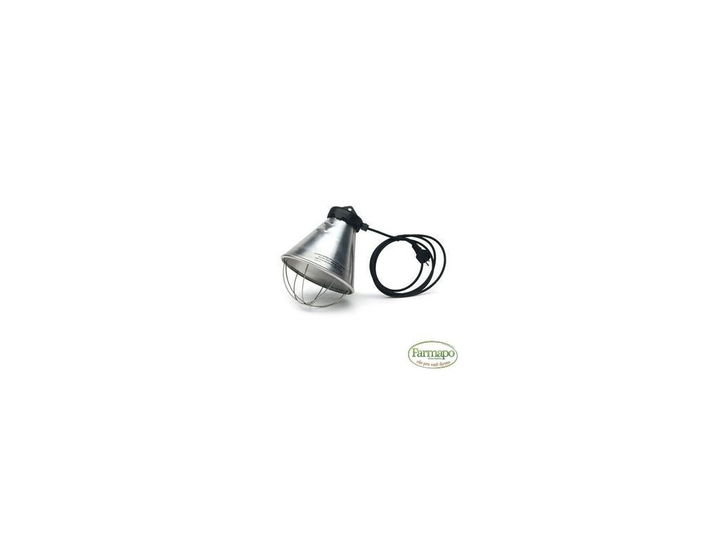 Hliníkový kryt ná žárovku 210 mm, délka kabelu 2,5 m