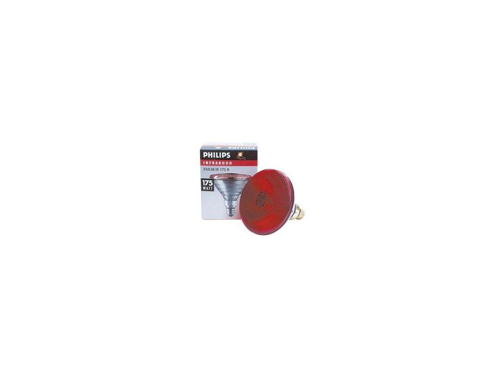 Infračervená žárovka Philips červená, 175 W PAR
