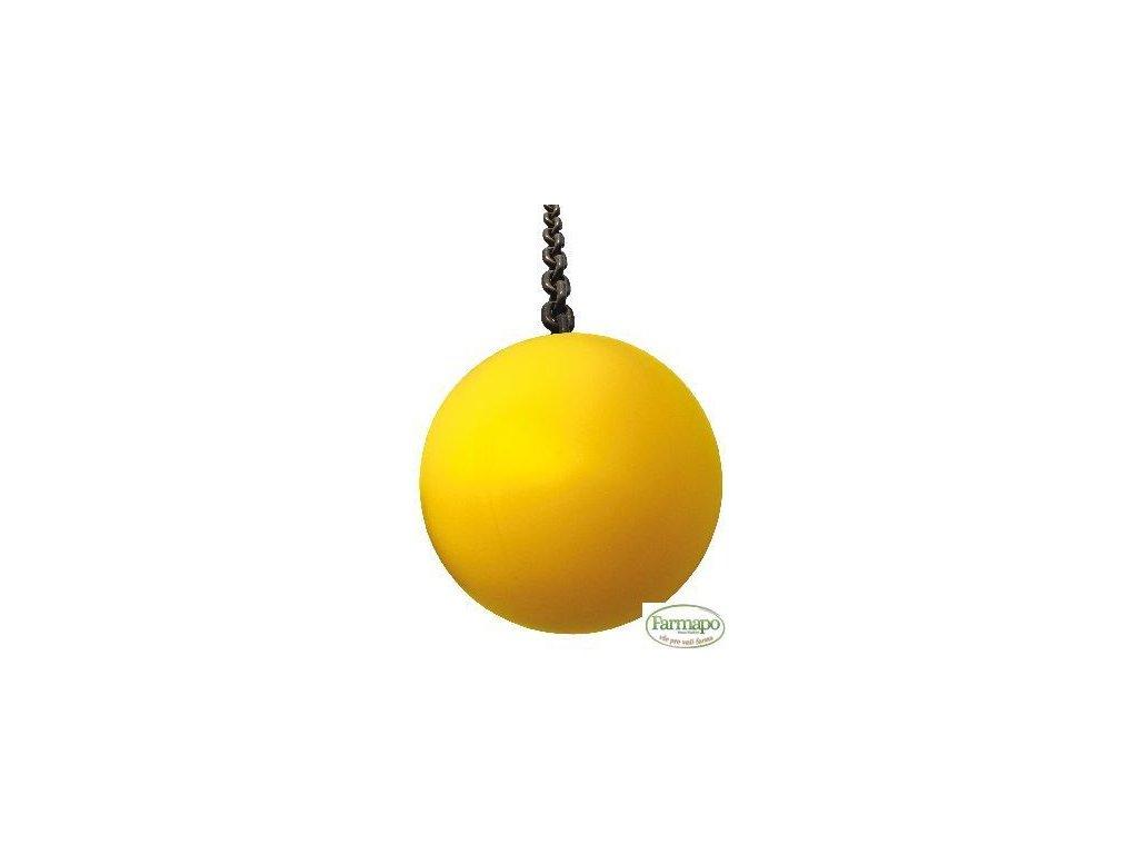 Hrací míček pro prasata, plastový, žlutý