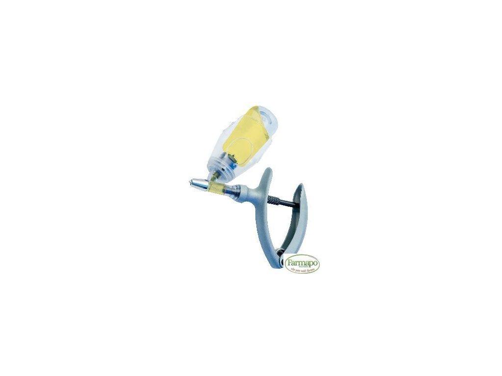 ECO-MATIC injekční automat 5ml s úchytem na lahvičky, nastavitelné dávkování