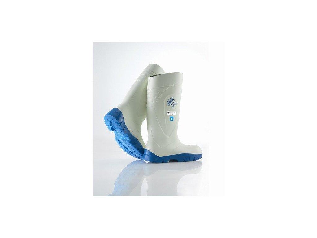 H031P0402 holínky,bílé s modr.podrážkou