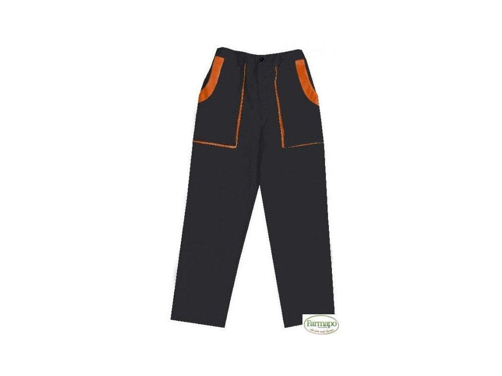 Kalhoty do pasu, pánské, černo/oranžové
