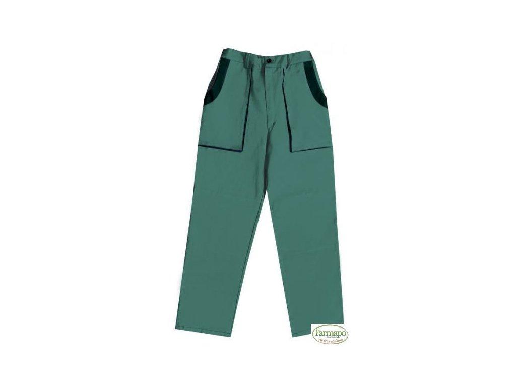 Kalhoty do pasu, pánské, zeleno/černé