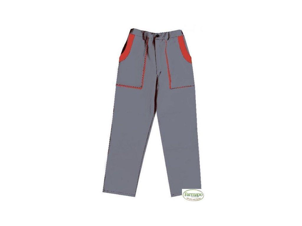 Kalhoty do pasu, pánské, šedo/červené