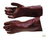 Pracovní rukavice PVC, červené, 35 cm