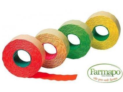 Štítky do etiketovacích kleští barevné