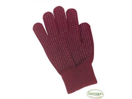 Rukavice jezdecké Magic Grippy, bavlna, s nopy ve dlani