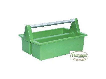 Plastový box na odkládání pomůcek, s plastovým držadlem