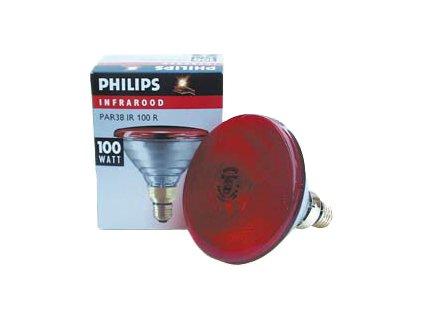 Infračervená žárovka Philips červená, 100 W PAR