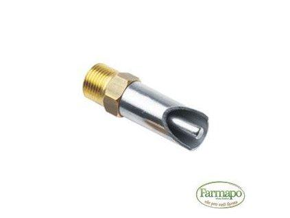 """Napáječka kolíková 3/8"""" pro selata, 61 mm, šestihran 17 – NR náustek průměr 16 – kolík průměr 6"""