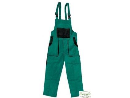 Kalhoty s laclem /zahradníky, pánské, zeleno/černé