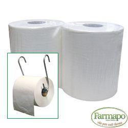 Papírové utěrky biodegradabilní, jednovrstvé na roli