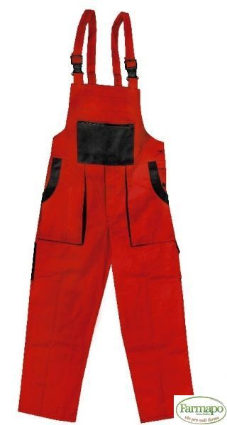 Kalhoty s laclem Velikost: 56, Barva: Červená