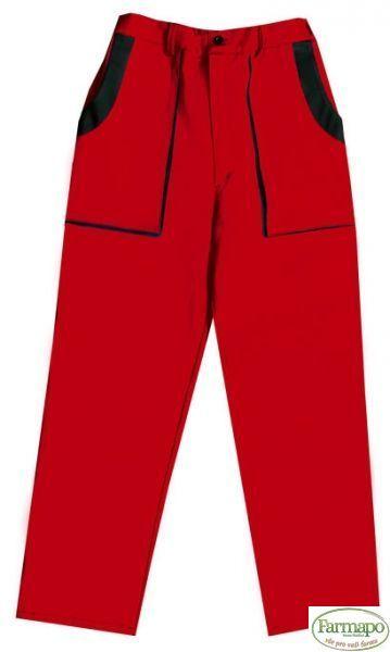 Kalhoty do pasu Velikost: 44, Barva: Červená