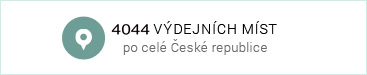 4044 výdejních míst v ČR