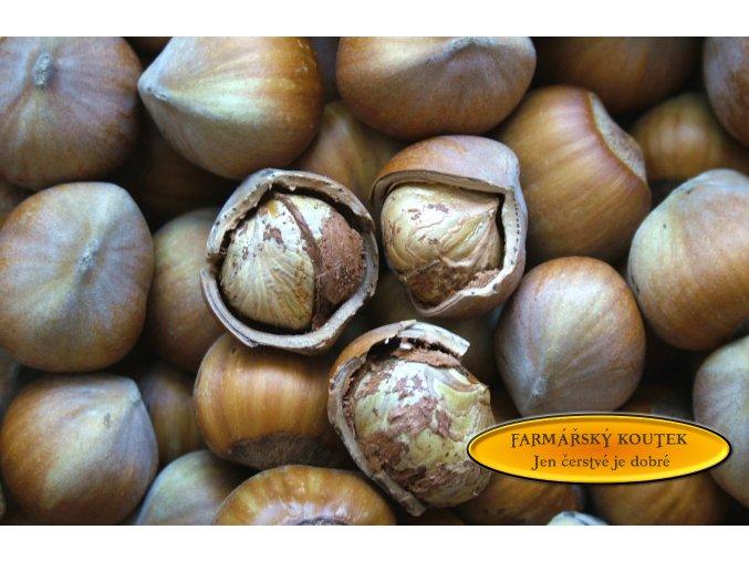 Lískové ořechy neloupané