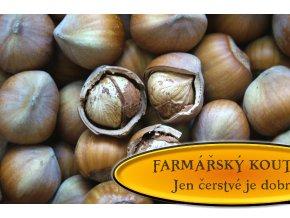 Lískové ořechy neloupané - letošní