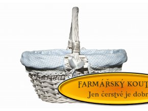 velikonoční proutěný košík s polstrováním