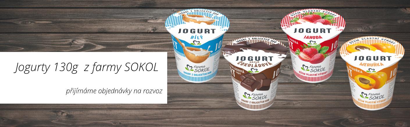 Jogurty 130g z Farmy SOKOL