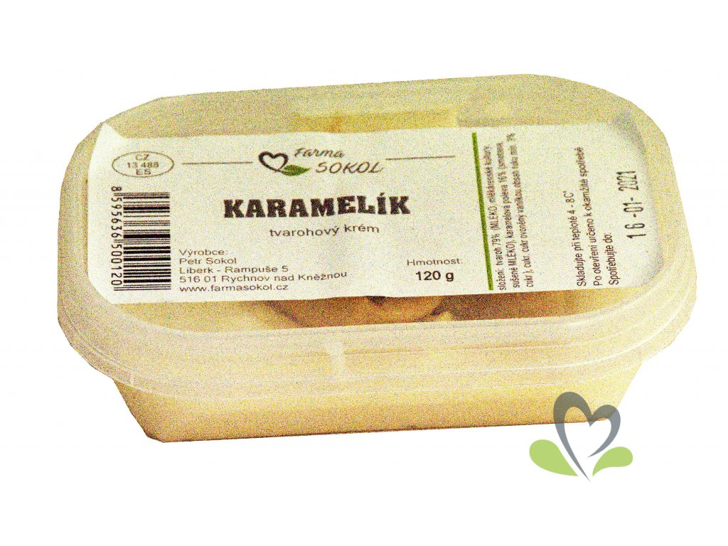 Karamelík - tvarohový dezert - 120 g