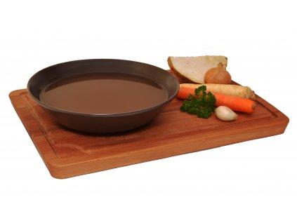 Hovězí vývar se zeleninou a masem - 620 g