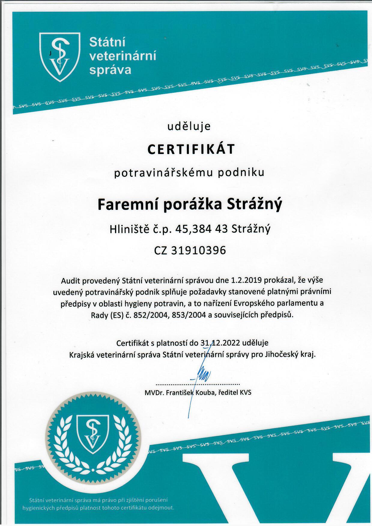 Audit Státní veterinární správy
