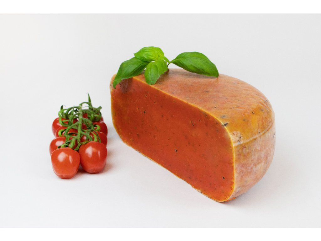 Kravský sýr pesto Rajče